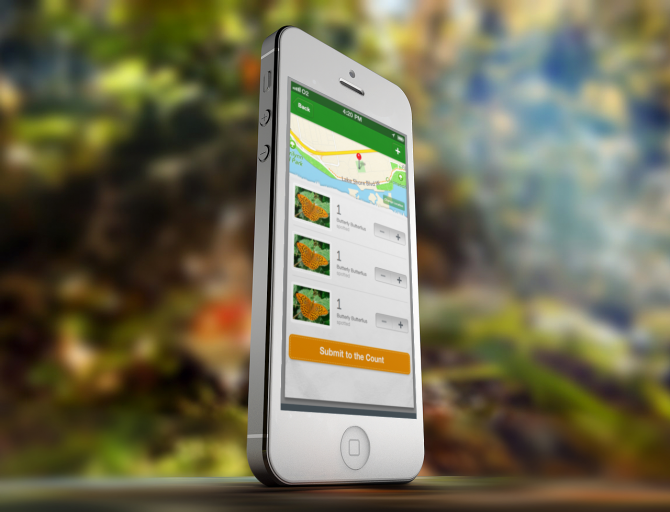 Butterfly counting hybrid app