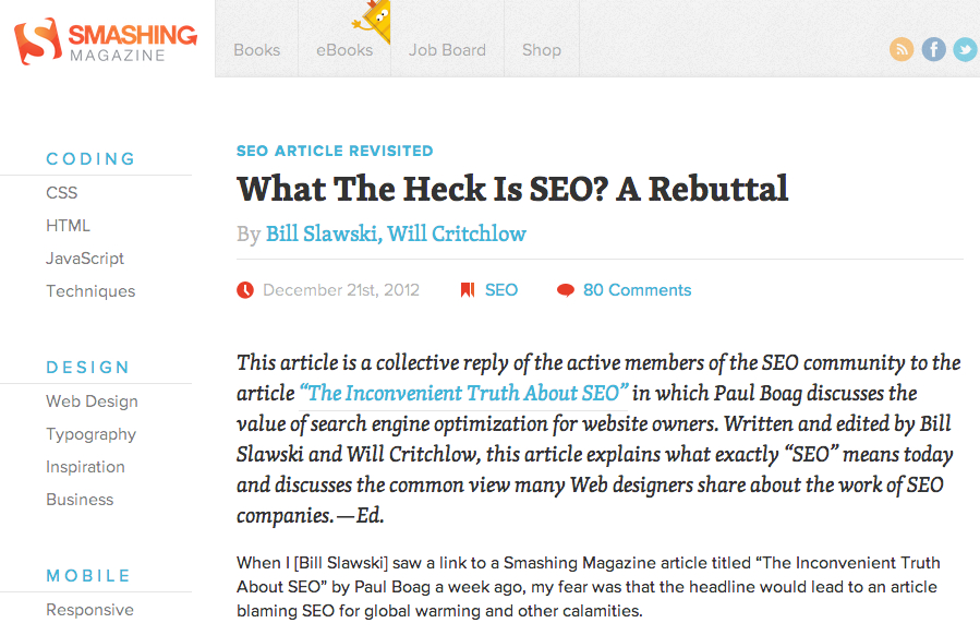 What the heck is SEO?