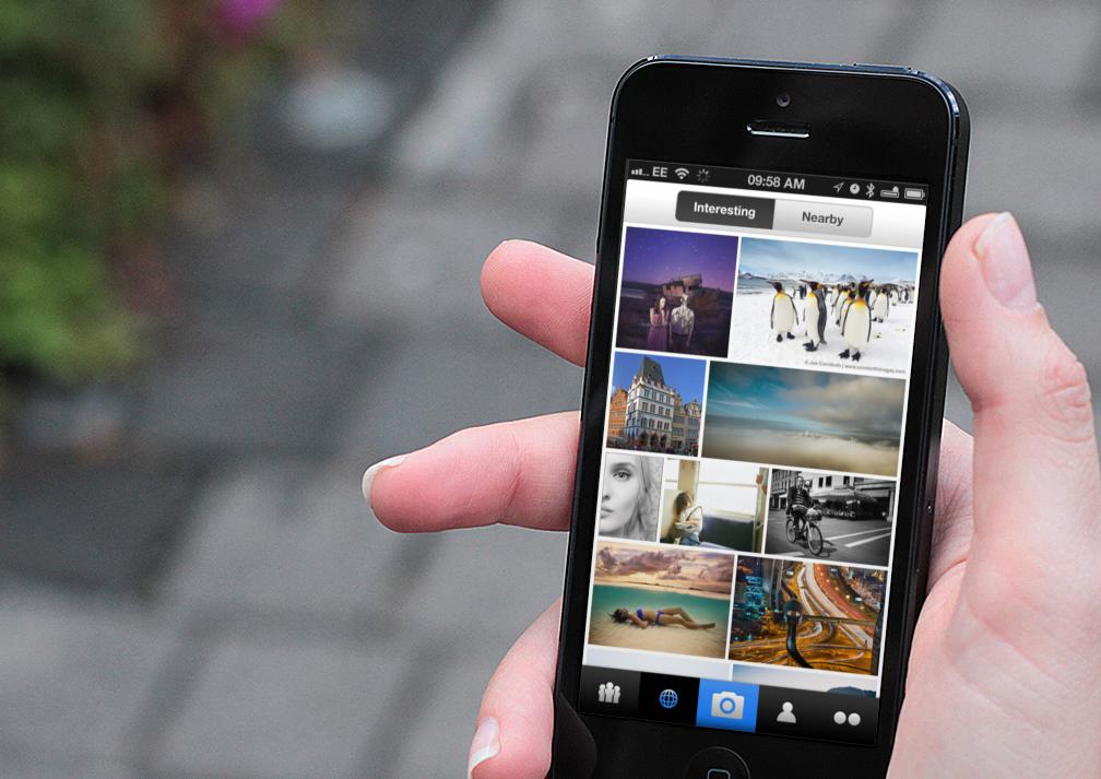 Flickr Interesting tab on iOS app