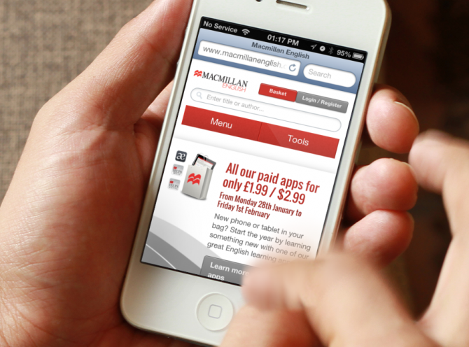 Macmillian English Responsive website