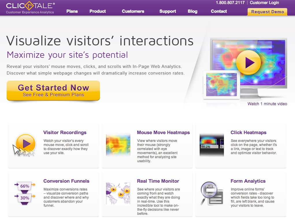 Clicktale website