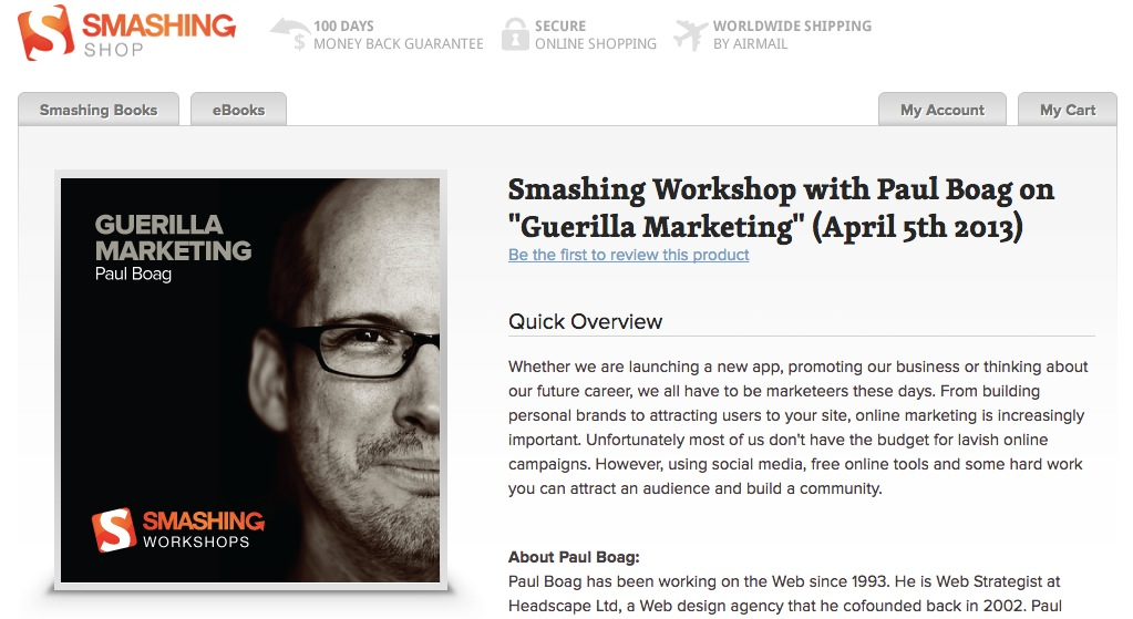 Smashing Workshop Website