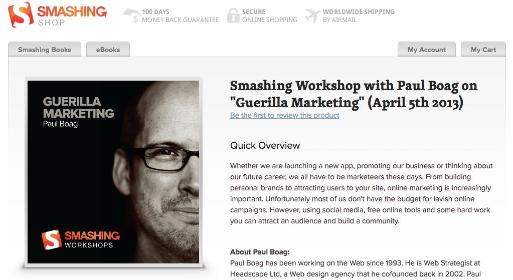 Smashing Workshop Website