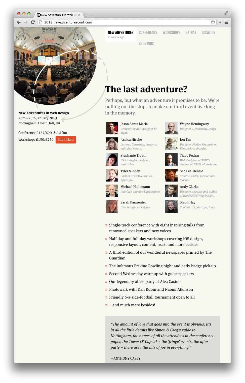 New Adventures Website