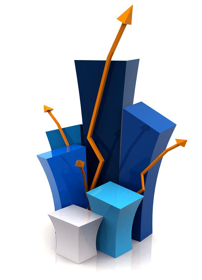 3d growth illustration