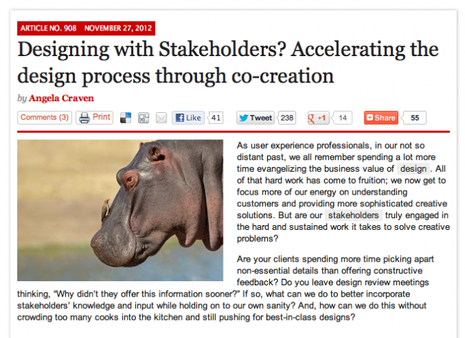 Designing with stakeholders