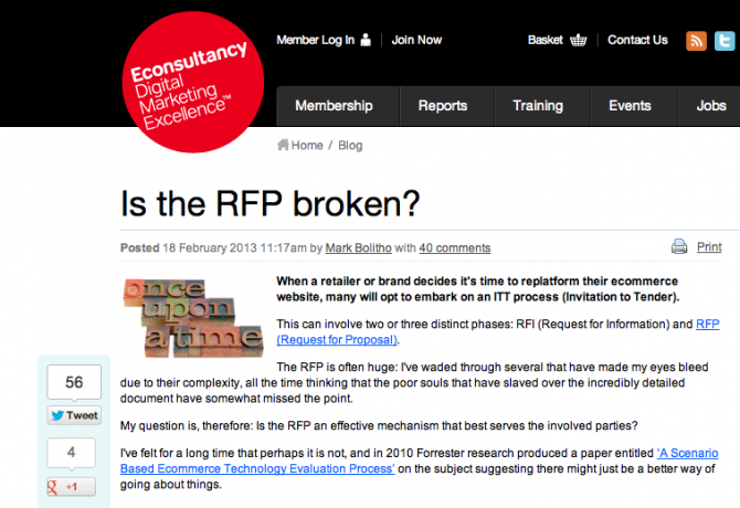 Is the RFP broken?