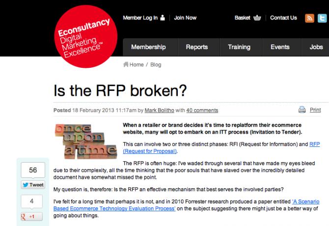 Is the RFP broken?