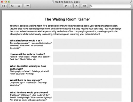 Waiting Room Questionnaire