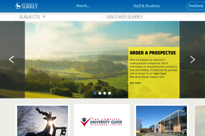 University of Surrey Homepage