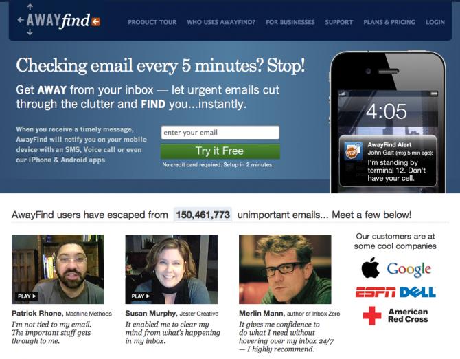AwayFind Homepage