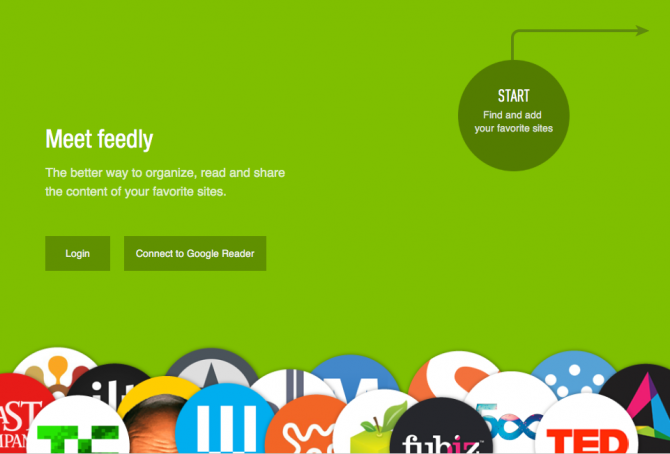 Feedly Homepage