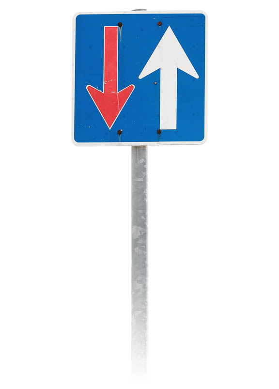 bigstock-Direction-priority-sign-on-whi-43863055