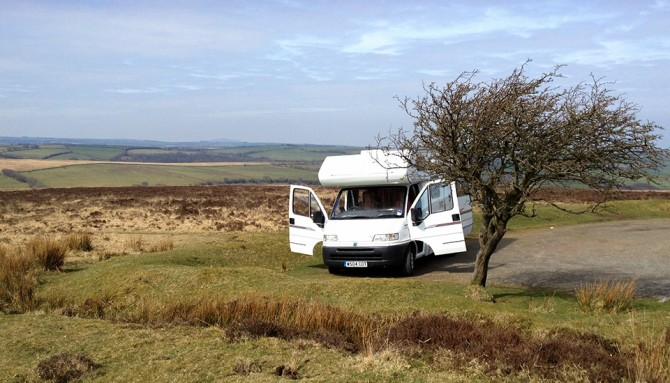 Motorhome on Exmoor