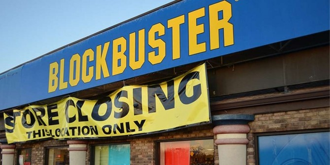 Image of Blockbuster store closing