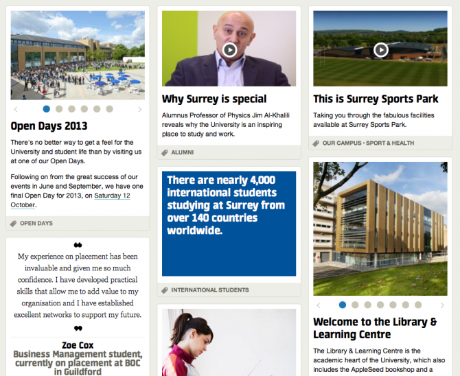 University of Surrey News Section