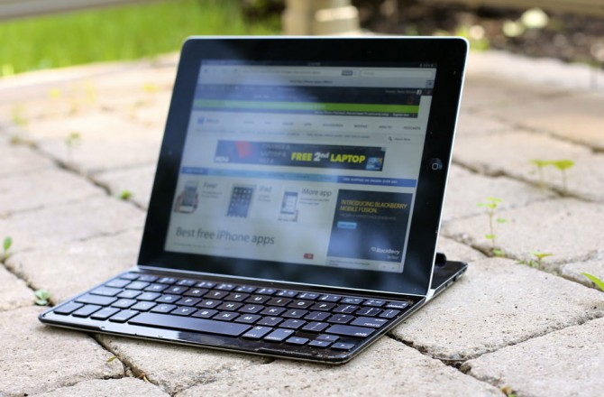 The Logitech Ultrathin Keyboard Cover