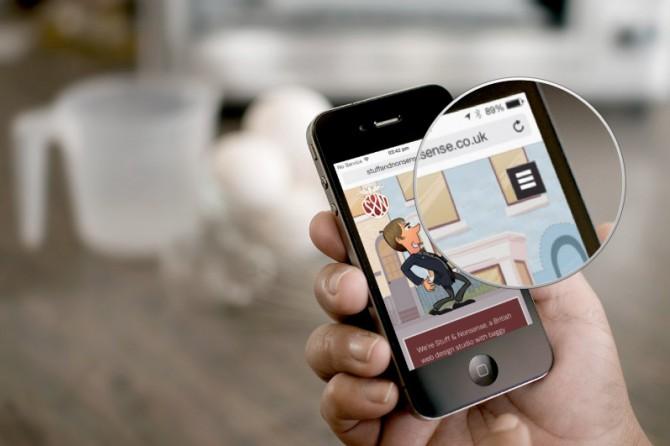 Mobile navigation on stuffandnonsence.co.uk