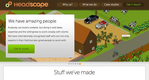 Headscape homepage