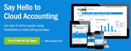 Freshbook website