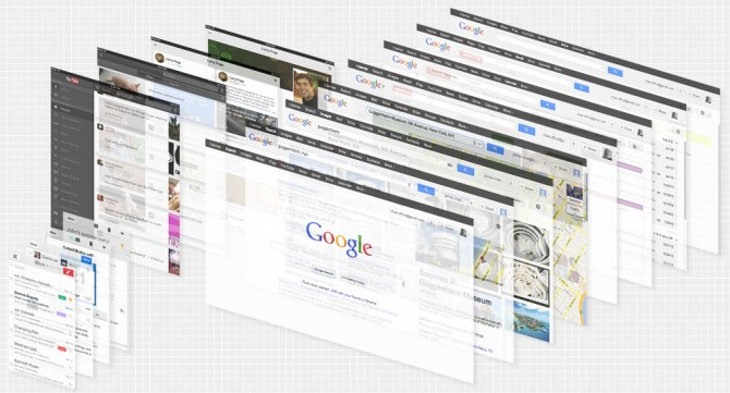Examples of Googles redesign