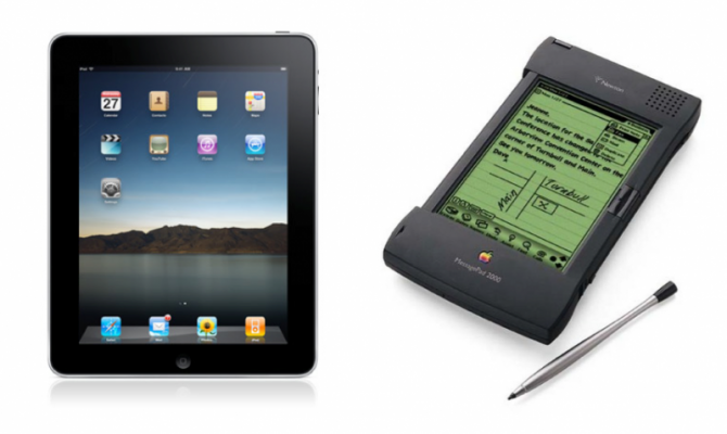 Image of Newton and iPad