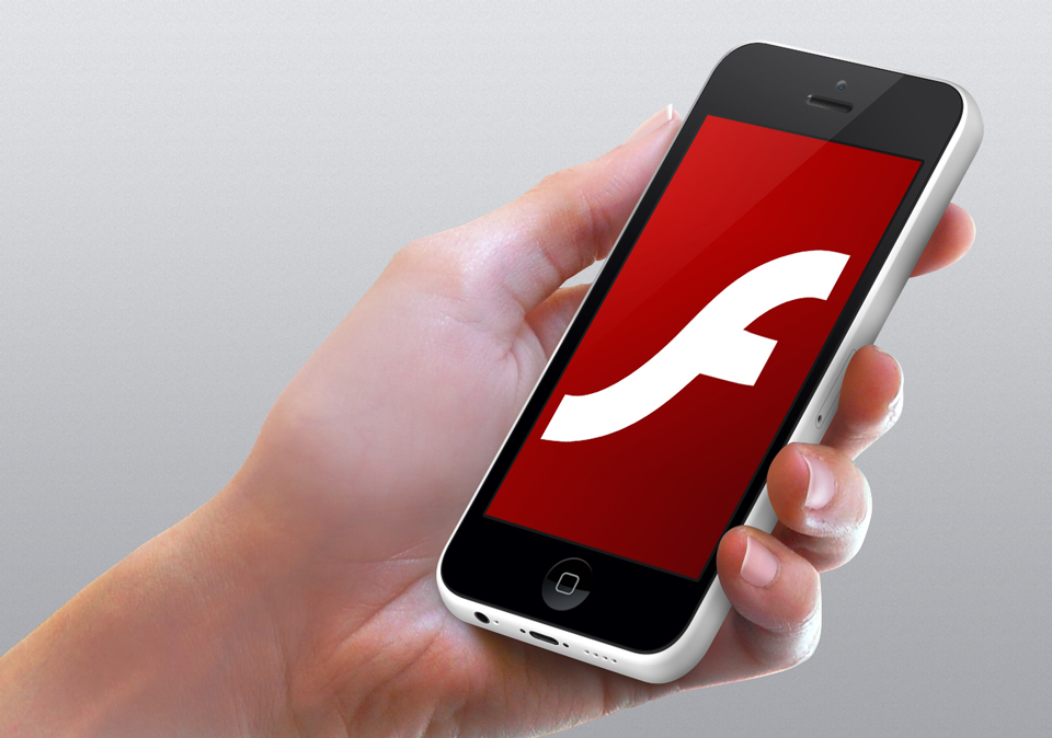 Flash logo on iPhone