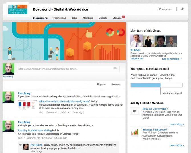 Boagworld LinkedIn Group