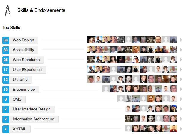 My skills and endorsements