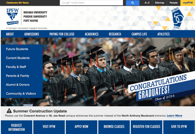 Indiana University Site