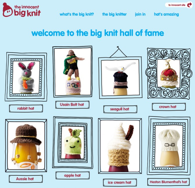 Innocent Smoothies uses their Big Knit campaign to engage with their community.