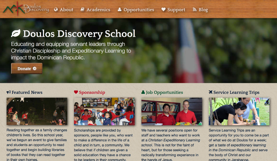 Doulos Discover School website