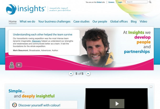 Insights website