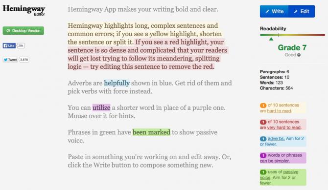 HemingwayApp