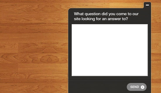A simple survey is often the best way of getting to know what questions users have.