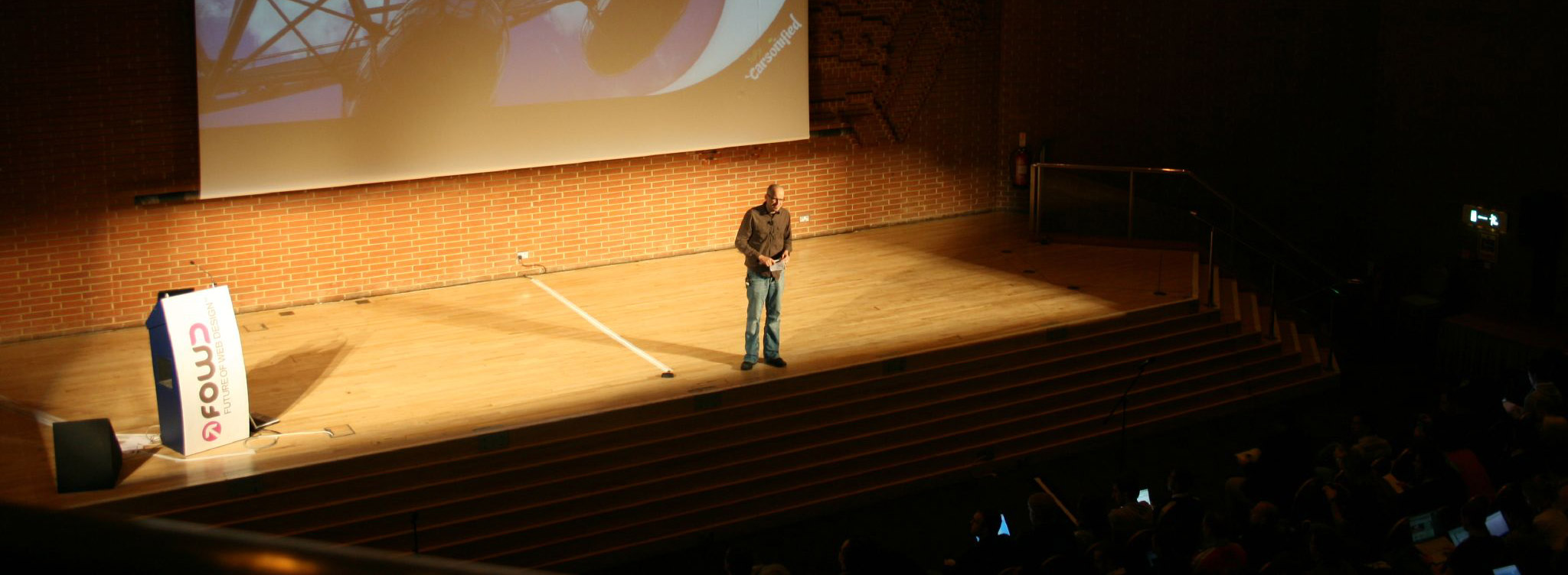 UX consultant Paul Boag on stage.