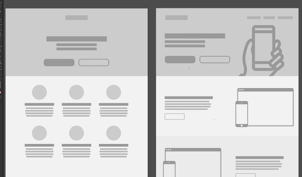 Apparently there are now only two designs for websites.