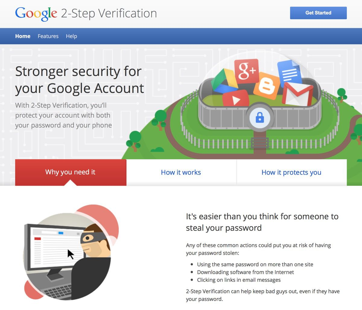 Google is one of many companies moving away from CAPTCHA to the more secure two step validation.