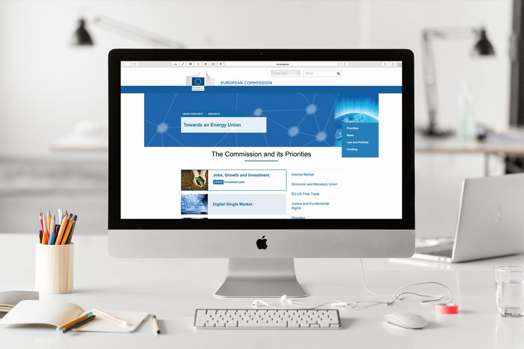 Like the European Commission we are looking to significantly reduce our online presence.