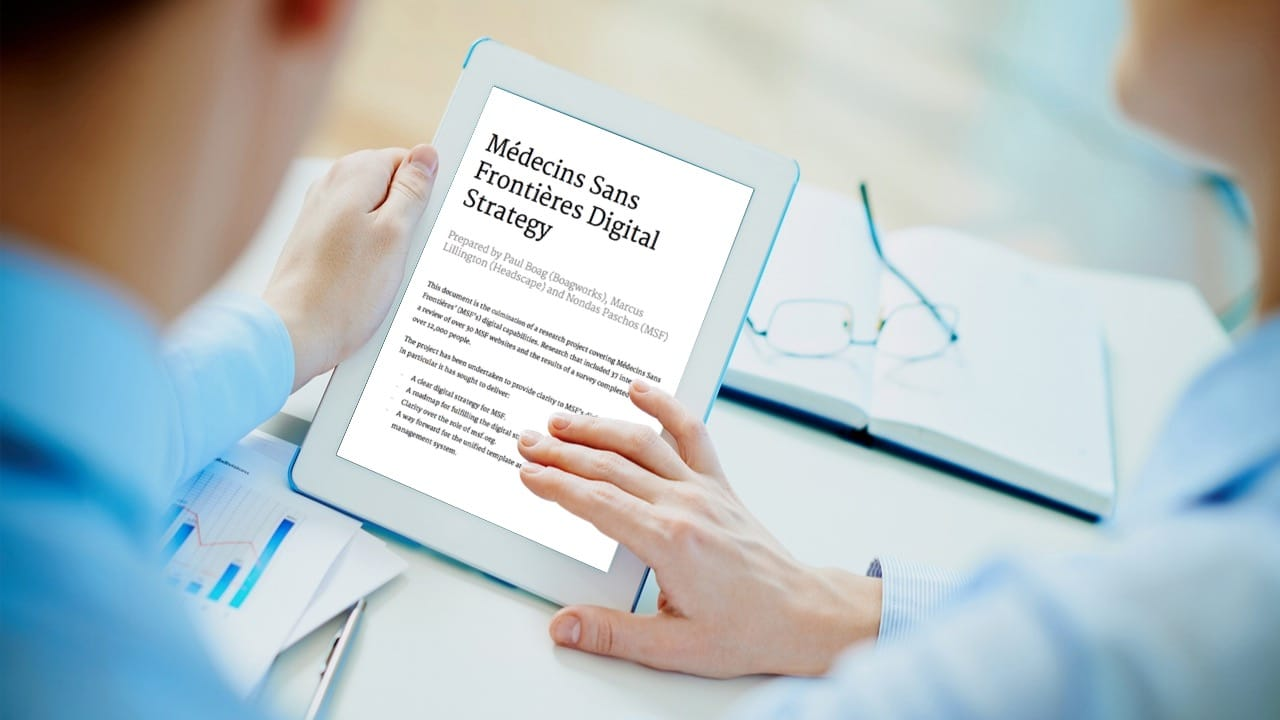 A strategy should help shape the long term approach to digital and the connected consumer.