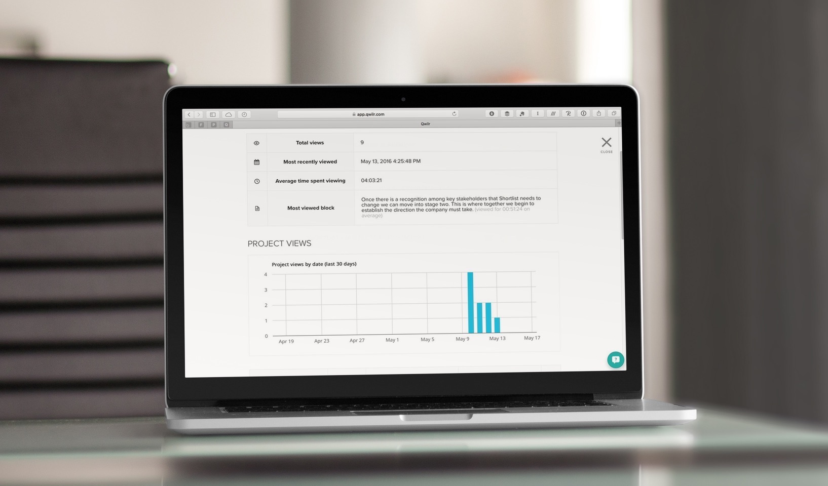 Having detailed analytics on a proposal makes a huge difference.