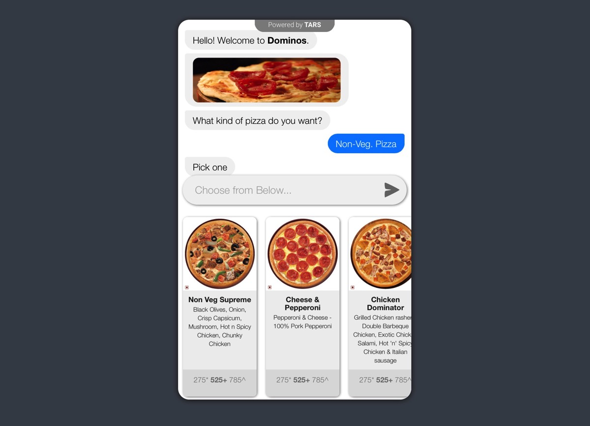 Chatbots can guide users through a process.