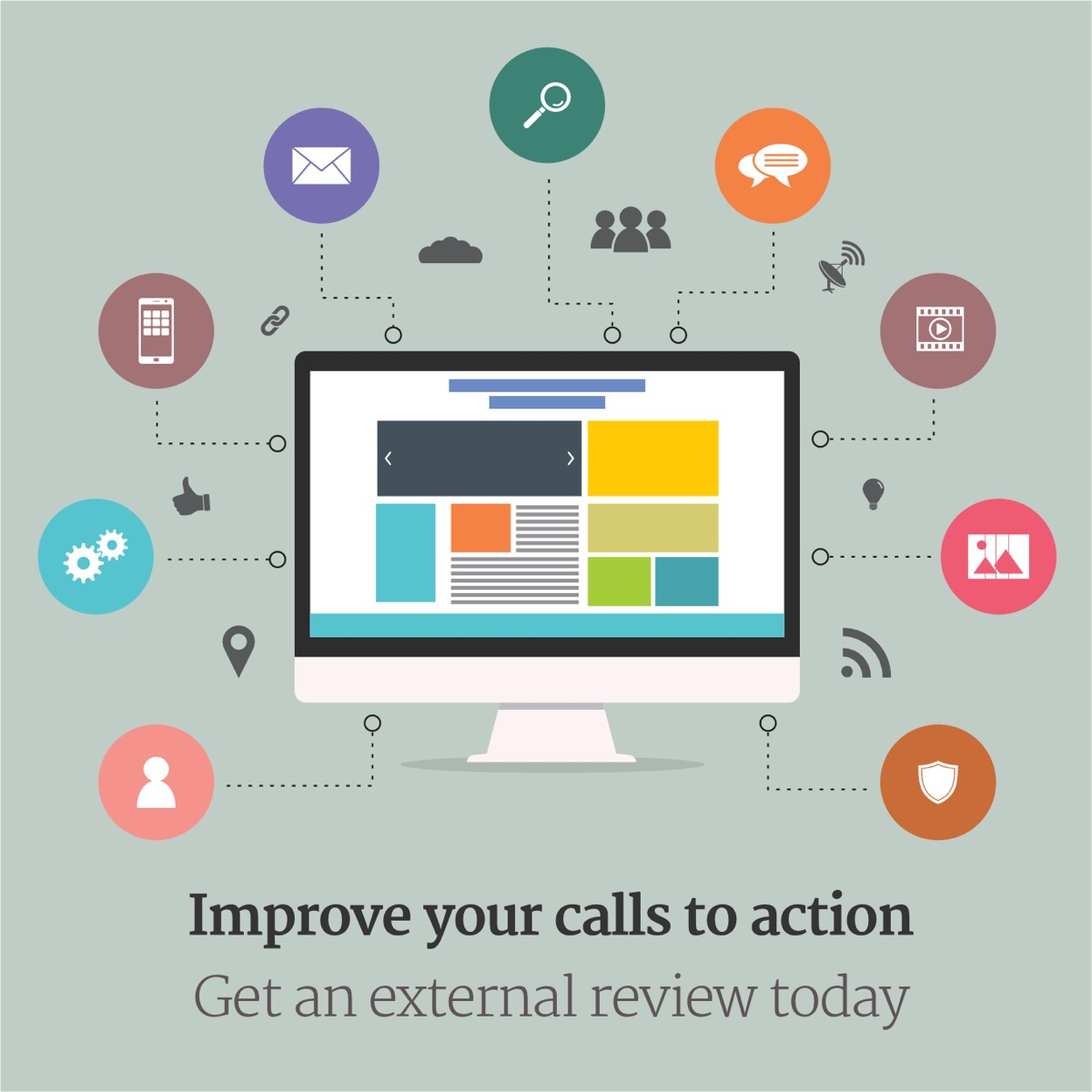 Improve your calls to action. Get a review today