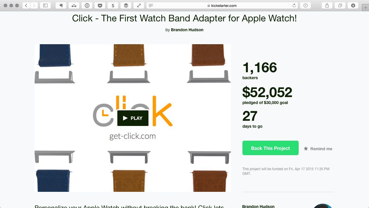 Kickstarter asks people to contribute to an achievable goal.