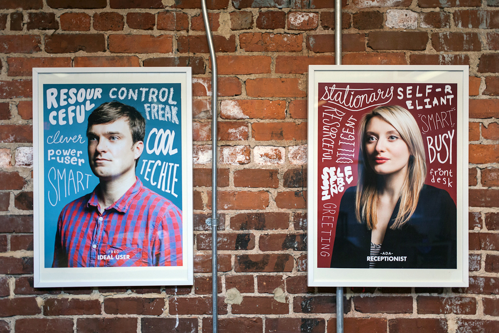 Putting users on your office walls is a great way of keeping them in the minds of colleagues.